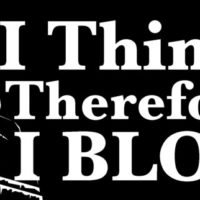 I think therefore I blog